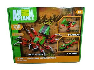 Arachnid Lizard Parrot Animal Planet 218 Building block set Age 6+