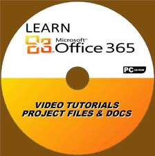 LEARN OFFICE 365 SIMPLE VIDEO TRAINING TUTORIALS & PRACTIC EXERCISES FILES PC-CD