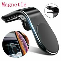 Magnetic In Car Phone Holder Stand Air Vent Mount L Shape For iPhone Samsung GPS