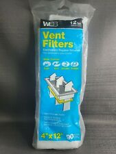 """Web Vent/Register Filters 4"""" X 12"""" Can be Trimmed 7 Count Opened Bag"""