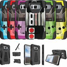 For Samsung Galaxy S8 PLUS SM-G955 Shockproof Dual Layer Bumper Case - Retro