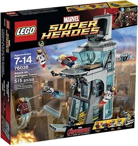 Lego Marvel Super Heroes 76038 Attack On Avengers Tower Iron Man Thor Ultron
