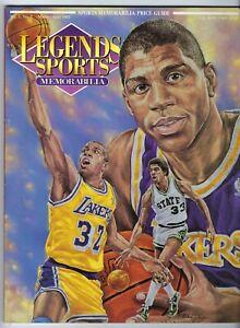 Legends Sports Memorabilia March 1992 - Magic Johnson cover - W/ attached cards