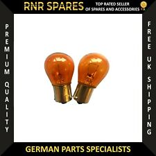 Amber Indicator Bulbs X 2 Straight Pins Flasher Bulbs