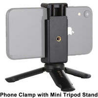 Universal Mini Mobile Phone Tripod Stand Grip Holder Mount For iPhone Samsung