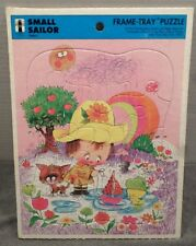 SMALL SAILOR vtg frame tray puzzle 1974 puddle slicker Rainbow Works