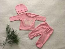 ♥ Neu ♥ Babykleidung |3-teilig|, Strampelhose, Oberteil,Mütze, |Gr. 56|
