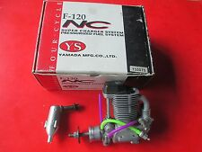 YS F-120 NC SUPERCHARGED RC ENGINE WITH EXHAUST YS0075