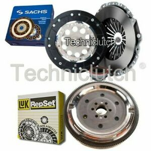SACHS 3 PART CLUTCH KIT AND LUK DMF FOR AUDI A6 SALOON 1.8 T