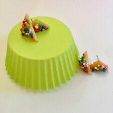Large Fairy Bread Stud Earrings, Miniature Fairy Bread studs - food jewellery