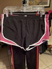 Women Arizona Running Shorts  Size Large Black/Pink