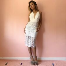 Finders Keepers White Halter Lace Dress MSRP $250