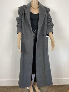 Nicole Farhi for Stephen Marks Grey Long Oversize Wool Rich Blend Duster Coat 10