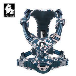 Truelove Nylon Webbing with 3M Reflective Pet Dog Harness - TLH5655 - Saxony Blu