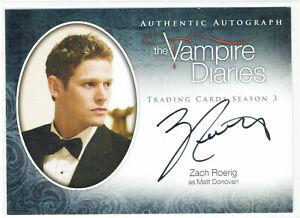Vampire Diaries Season 3 Autograph Card A8 Zach Roerig as Matt Donovan