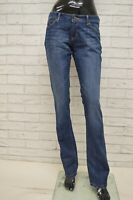 Jeans KAPPA Donna Taglia Size 29 Pants Woman Pantalone Gamba Dritta Cotone Blu