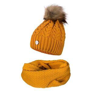 Elegant,Women Girls Knitted Pom Pom Hat and Scarf Set Warm Autumn Winter
