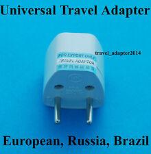 Universal UK AUS USA EURO to European Russian AC Power Plug Adapter