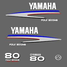 kit stickers YAMAHA 80 cv serie 2 - autocollant capot moteur hors-bord decals