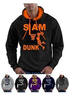 Slam Dunk Basketball Hoodie Hoop Ball Hooded Sweatshirt  - Smartphone Compatible