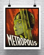 Metropolis 1927 Vintage Sci-Fi Movie Poster Rolled Canvas Giclee Print 24x28 in.