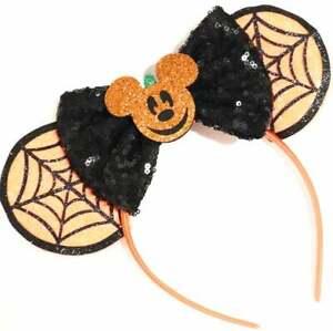 Halloween Minnie Ears, Halloween Mickey Ears, Halloween Disney Ears HANDMADE