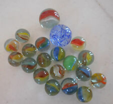 20 Vintage Rare Greek 70s Marbles Amazing Colors Game Prew Owned Gift Rare