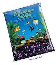 New listing Pure Water Pebbles Nature's Ocean Aquarium Gravel BlackBerry Glo Gravel 5-lb