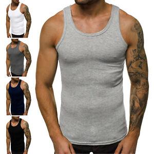 Tanktop T-Shirt Muskelshirt Basic Fitness Shirt Slim Fit Herren OZONEE 11529 MIX