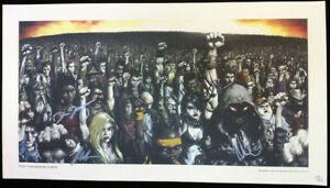 DISTURBED Ten Thousand Fists Autographed Signed 2005 Promo Poster By Full Band