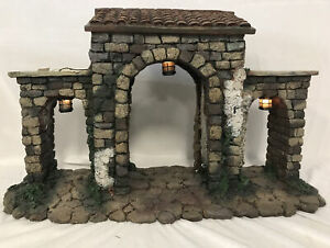 "Fontanini Nativity Village ~ TOWN GATE #50252 ~ For 5"" Nativity IN BOX"