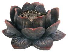 """Lotus Incense Burner for Cones or Sticks, Beautiful Detail, 4.25"""" Diameter"""