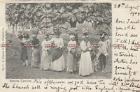 Jamaica Postcard. Banana Carriers. Duperly. Early Undivided Back!  Stamp. 1904