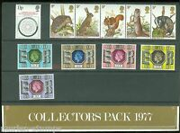 GREAT BRITAN 1977  COLLECTORS PACK CONTAINS ALL MINT NEVER HINGED STAMPS