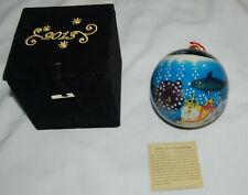 Brighten the Season Hand Painted Glass Christmas Ornament Fish Sea Nautical 2013