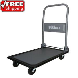 330lbs Platform Cart Dolly Foldable Moving Heavy-Duty Warehouse Push Hand Truck
