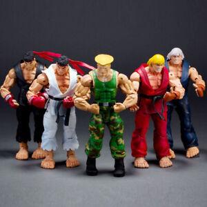 "NECA Street Fighter Ken Ryu Guile Chun Li Akuma 7"" Action Figure Game Version"