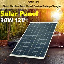 30W 12V Dual USB Flexible Solar Panel Battery Charger Kit Car Boat Camping R3I6