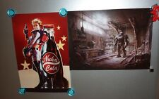 Fallout 4 Limited Edition Loot Crate Exclusive Collector Poster Set ONLY mini