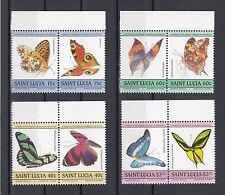 TIMBRE STAMP  8 ILE ST LUCIA  Y&T#720-27 PAPILLON  NEUF**/MNH-MINT 1985 ~A51