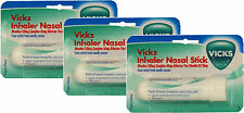 Vicks Inhaler Nasal Stick 0.5ml X3 TRIPLE PACK - Fast Relief From Stuffy Nose