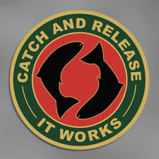 CATCH AND RELEASE FISHING  VINYL LAPTOP WINDOW STICKER