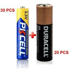 50 Heavy Duty Batteries (30 Pkcell R03P AAA + 20 Duracell MN1500 AA Coppertop)