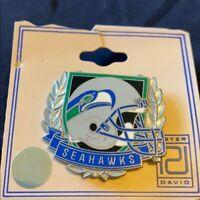 VTG Peter David NFL SEATTLE SEAHAWKS Football Lapel Pin Vintage