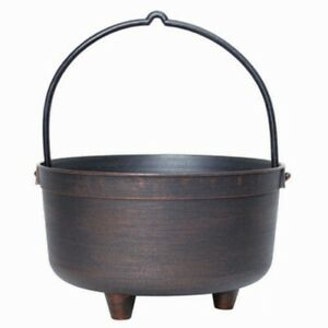 Novelty Cauldron Planter With Handle Halloween Theme or Cheeky Mothers Day Gift