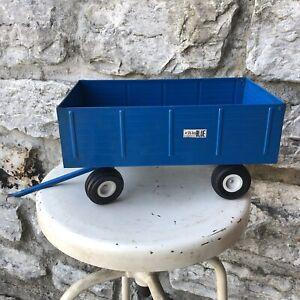 Vintage Ertl Ford 8600 Die cast Tractor the Big Blue trailer Farm wagon diecast