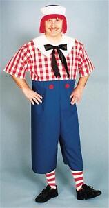 MENS RAGGEDY ANDY DOLL COSTUME DRESS WIG SOCKS 12111 12121
