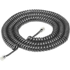 Comdial Hitachi 25' 25Ft Black Telephone Handset Receiver Coil Cord Wire New
