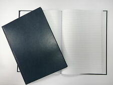 A4 MANUSCRIPT BOOK 96 LEAF 192 PAGES LINED HARDBACK NOTEPAD