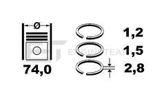 R1005900 Kolbenringsatz SUZUKI 1,3 Swift I II SAMURAI SJ 413 G13A